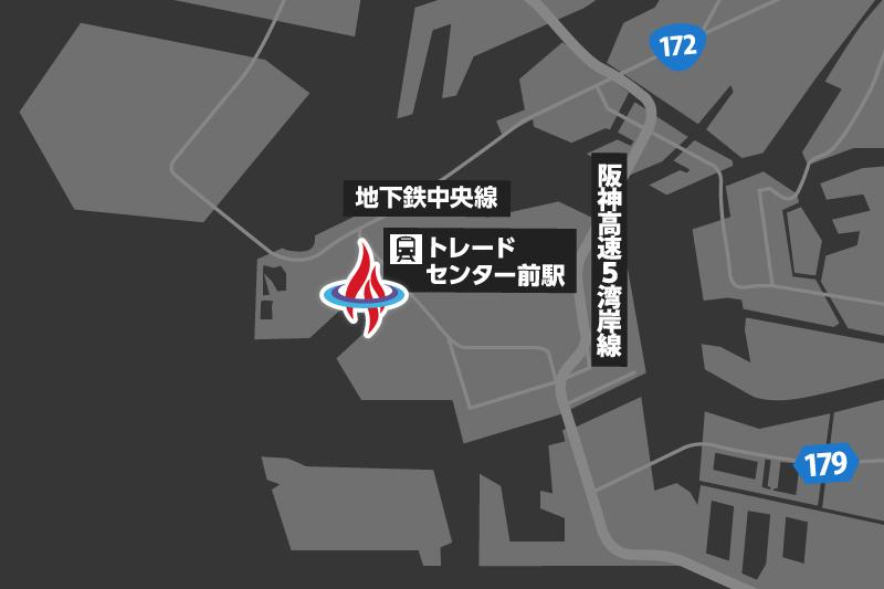大阪ショールームMAP